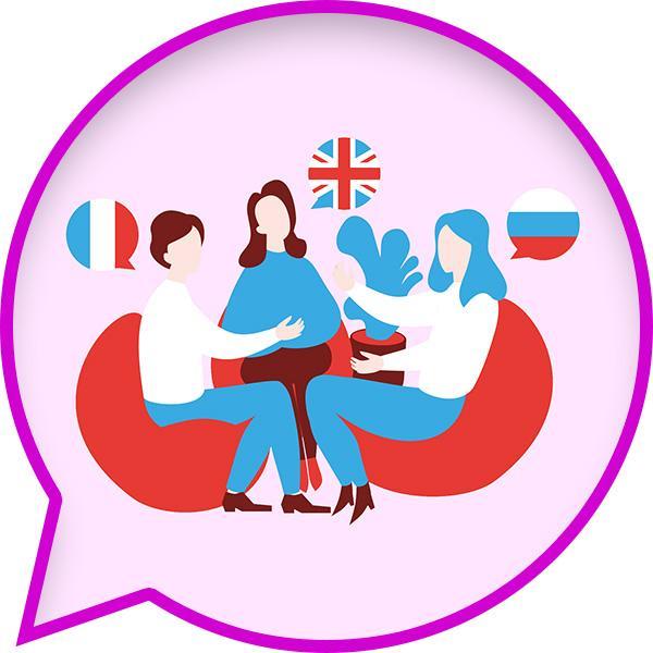 Ilustracja rozmawiających ludzi