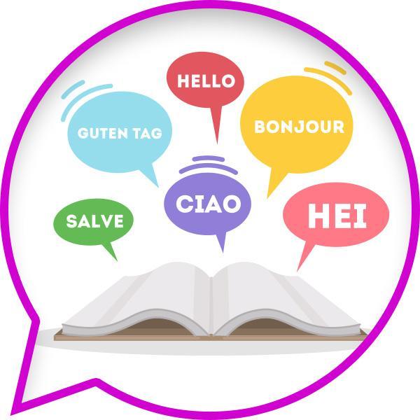 Ilustracja słów wróżnych językach nadsłownikiem