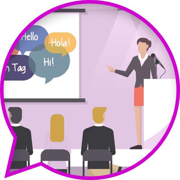 Ilustracja kursu językowego